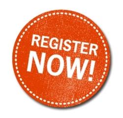 Register now orange round