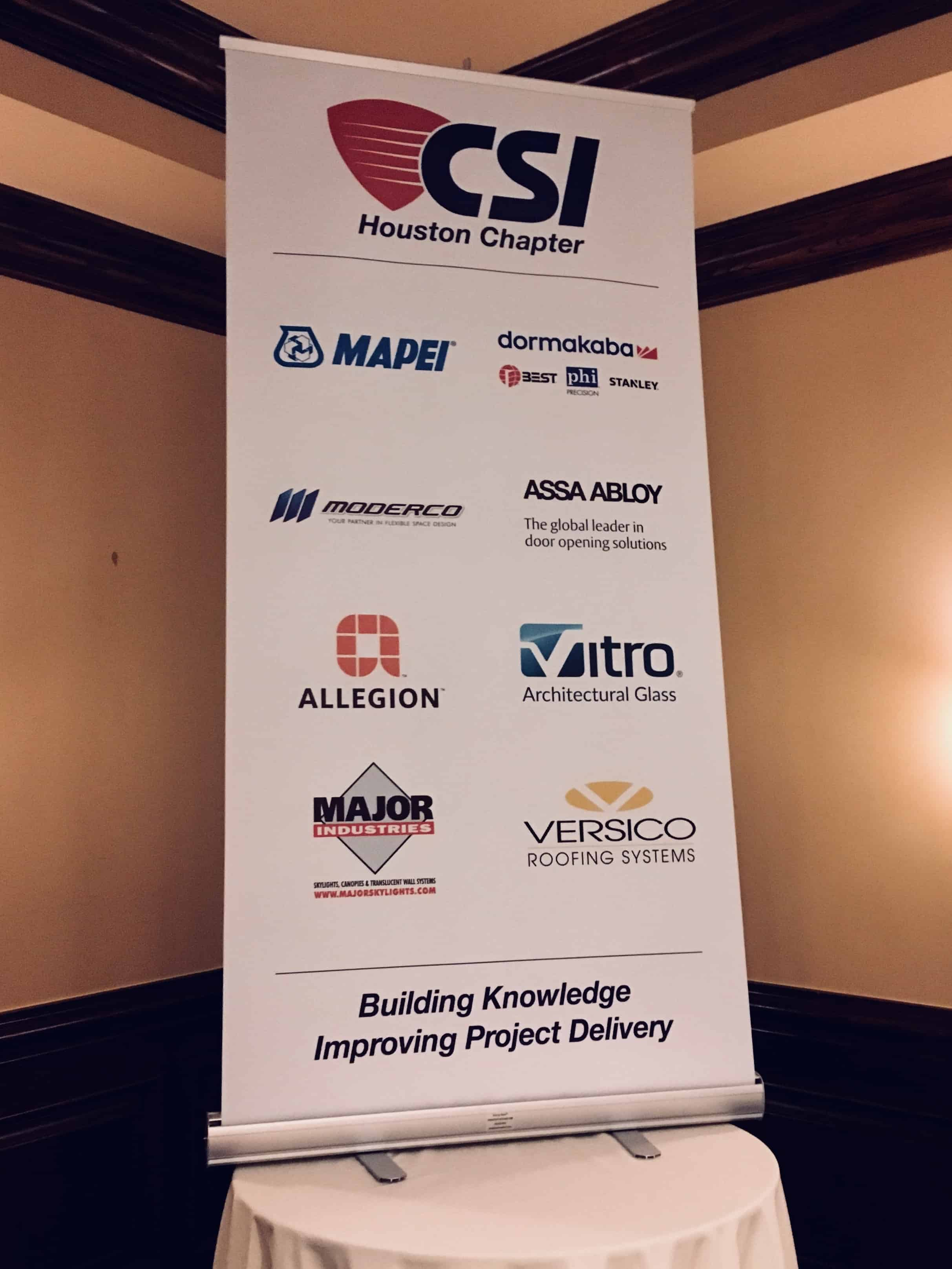 CSI Houston Sponsors